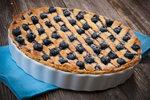 Borůvkový mřížkový koláč