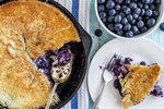 Šťavnatý borůvkový koláč
