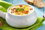 Sýrová polévka se slaninou