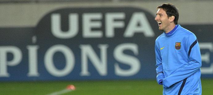 Vysmátý Lionel Messi