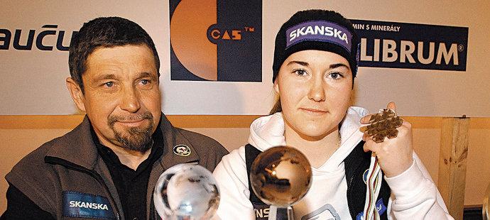 Šárka Záhrobská se svým otcem a někdejším trenérem Petrem