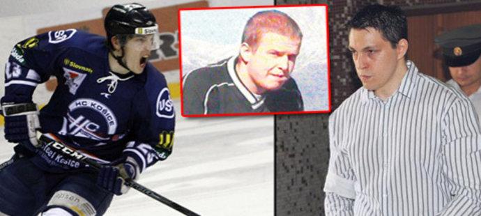 Hokejový útočník Ladislav Ščurko měl slušně rozjetou kariéru, s Košicemi vyhrál slovenskou extraligu. Pak ho však zatkli kvůli vraždě rozhodčího Liptaje (uprostřed)