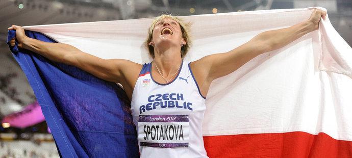 Barbora Špotáková se právem raduje! V Londýně dokázala obhájit zlato z Pekingu