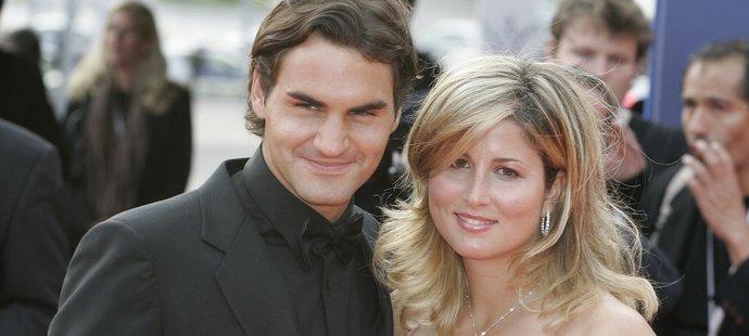 Roger Federer se svojí manželkou a bývalou tenistkou Mirkou Federerovou
