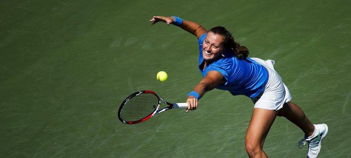 Petra Kvitová hrála ve dvojici s Flipkensovou.