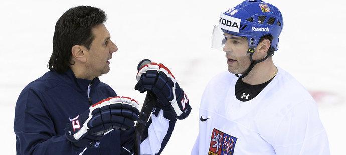 Trenér hokejové reprezentace Vladimír Růžička stojí o to, aby v týmu pro MS byl Jaromír Jágr