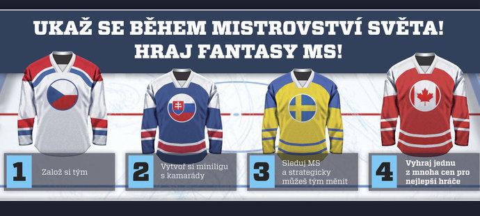 Nová Fantasy hra k MS v hokeji