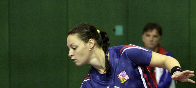 Dana Čechová-Hadačová se po narození dcery vrátila ke stolnímu tenisu.