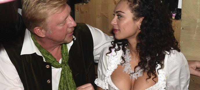 Boris Becker vyrazil s manželkou Lilly na Oktoberfest