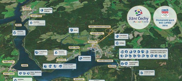 Takhle vypadá plán pro olympijský park.