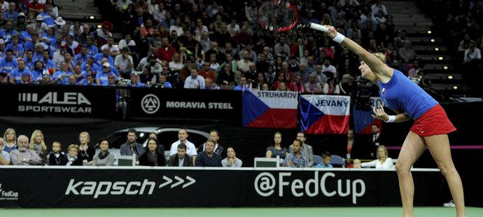 Petra Kvitová na podání nezaváhala.