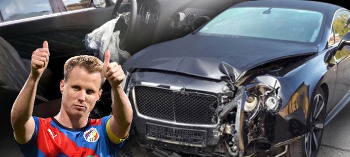 David Limberský odepsal  vůz značky Bentley