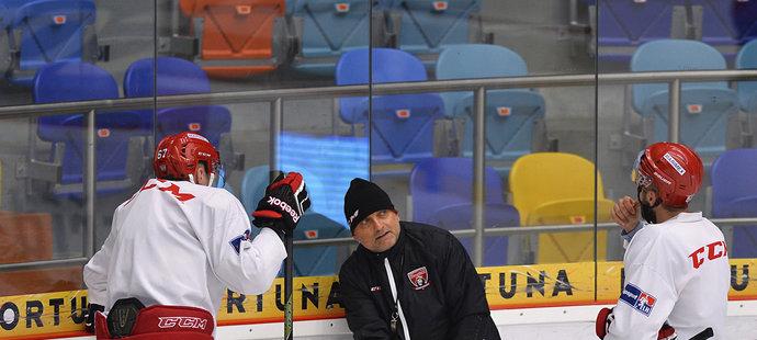 Vladimír Kýhos na prvním tréninku Hradce