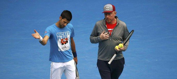Boris Becker v rozhovoru s Novakem Djokovičem