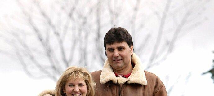 Šťastné chvilky zamilované dvojice: Vladimír Růžička s manželkou Evou