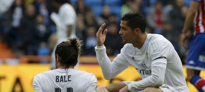 Útočník Realu Cristiano Ronaldo nestřílí góly v těžkých zápasech, Gareth Bale je zase často zraněný