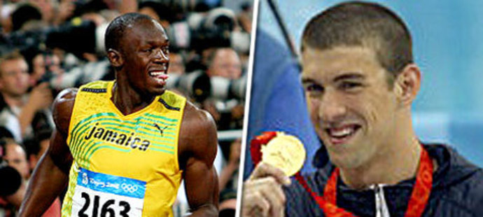 Usain Bolt a Michael Phelps