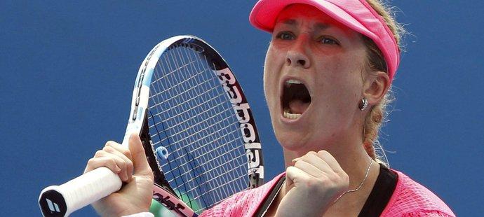 Denisa Allertová v prvním kole Australian Open svoji krajanku Petru Cetkovskou opravdu nešetřila