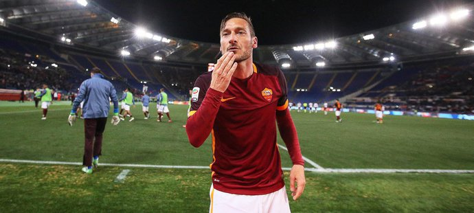 Francesco Totti v dresu AS Řím