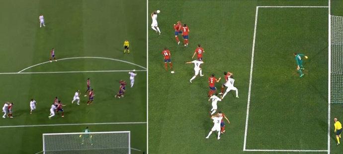 Moment, kdy Sergio Ramos vstřelil gól