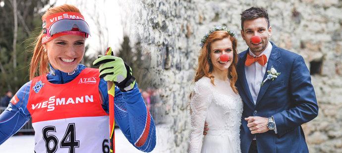 Gabriela Koukalová se vdávala před třemi lety a od té doby zažila hodně.