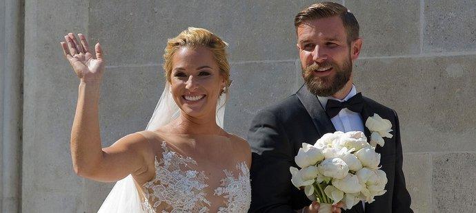 Dominika Cibulková na své svatbě oslnila všechny