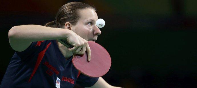 Česká stolní tenistka Hana Matelová v prvním kole olympijského turnaje vypadla