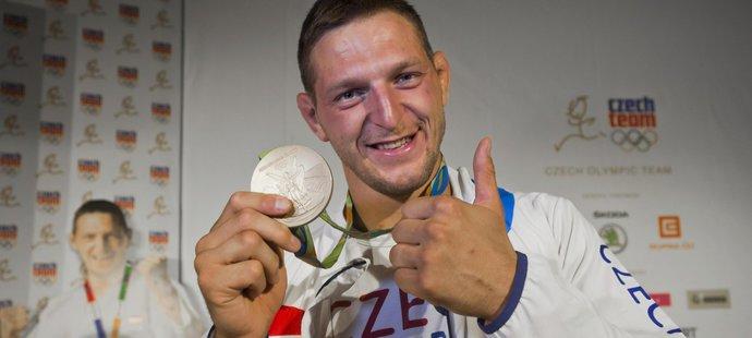 Český judista Lukáš Krpálek se zlatou medailí.