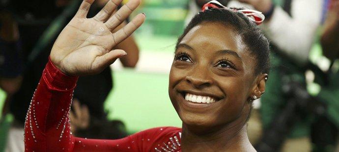 Simone Bilesová slaví už třetí zlato z olympijských her