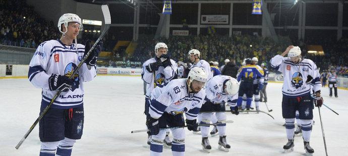 Zklamaní hokejisté Kladna (archivní foto)