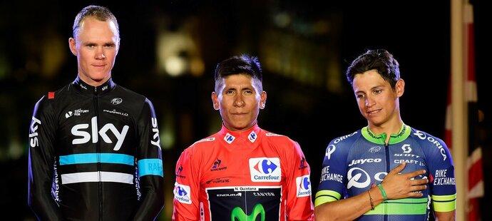 Tři nejlepší jezdci Vuelty 2016