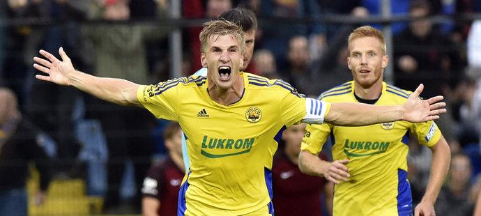 Kapitán slaví! Jakub Jugas se postaral o zlínský gól.