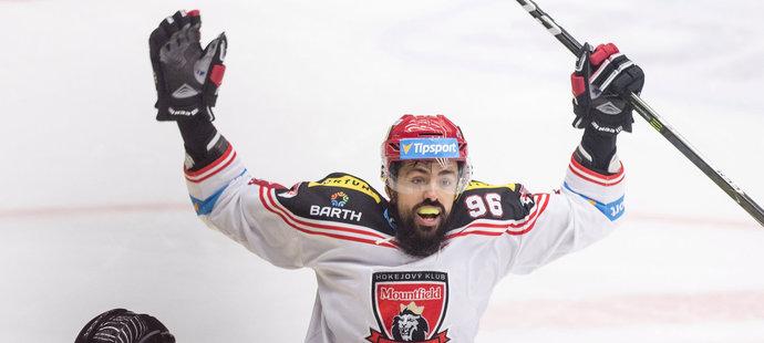 Richard Jarůšek se raduje po vítězném nájezdu
