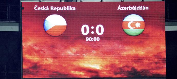 Fotbalisté české reprezentace Ázerbájdžán porazit nedokázali
