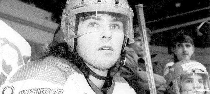 Jaromír Jágr v dresu Kladna při výluce NHL v roce 1994