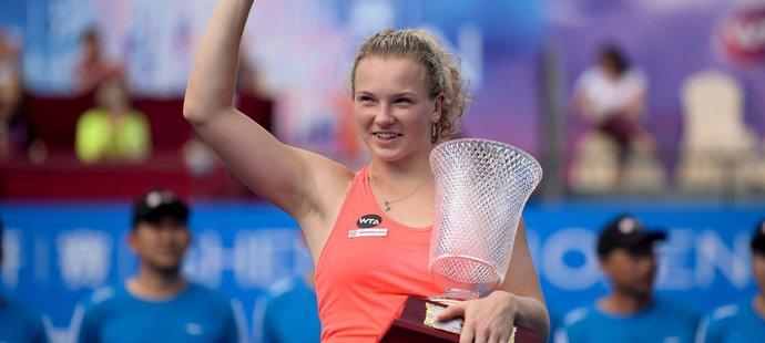 Kateřina Siniaková poprvé ovládla turnaj WTA