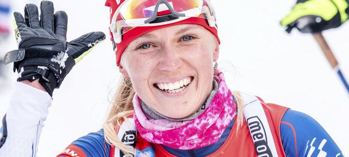 Eva Puskarčíková si ve stíhačce v Ruhpoldingu polepšila ze 14. příčky na šestou