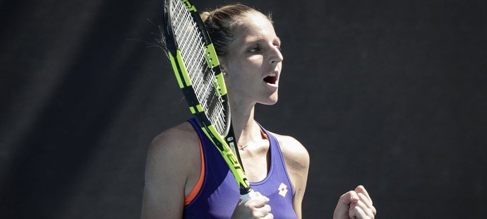 Kristýna Plíšková hraje na Australian Open hlavní soutěž potřetí a potřetí postoupila do 2. kola.