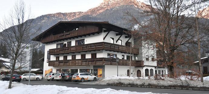 Penzion v St. Ulrichu, kde bydlí čeští biatlonisté