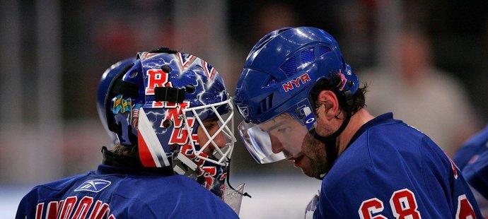 Henrik Lundqvist a Jaromír Jágr se potkali v kabině New York Rangers mezi léty 2005 až 2008
