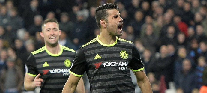 Diego Costa vstřelil druhý gól Chelsea