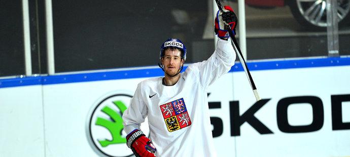 Roman Červenka na tréninku reprezentace