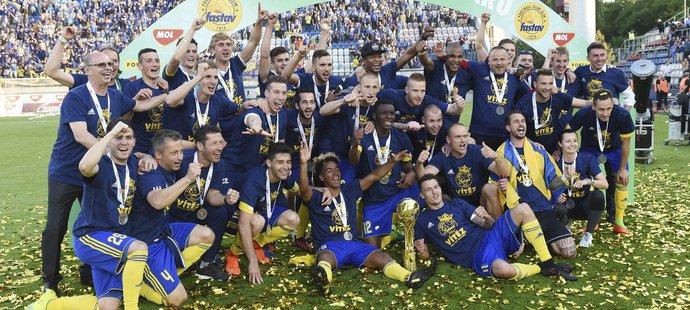 Fotbalisté Zlína slaví triumf v domácím poháru
