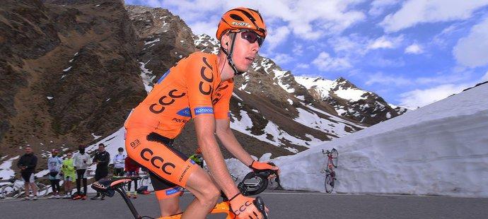 Jan Hirt v jedné z horských etap Gira d'Italia v loňské sezoně