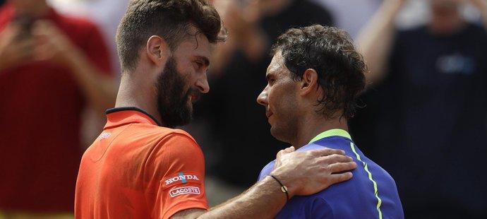 Benoit Paire s Rafaelem Nadalem na French Open