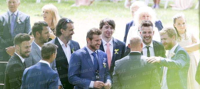 Svatba Hany Věrné a Radka Smoleňáka:  Gratulace ženichovi