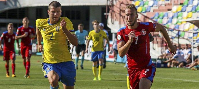 Daniel Turyna v úvodním zápase EURO U19 proti Švédsku