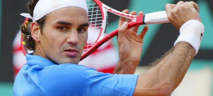 Roger Federer na Roland Garros v roce 2006
