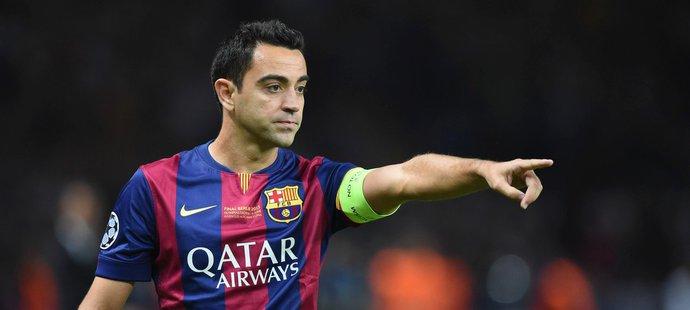 Xavi Hernandez ještě v dresu Barcelony