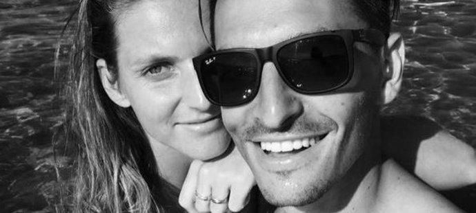 Je z téhle fotky poznat, že jsou tenistka Karolína Plíšková a její manažer Michal Hrdlička zasnoubení?